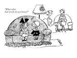 """What other bad words do you know"" - New Yorker Cartoon Premium Giclee Print by Don Herold"