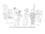 """""""I'm sure you'll like Mr.Tufts. Mr.Tufts is technically perfect."""" - New Yorker Cartoon Premium Giclee Print by Dean Vietor"""