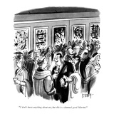 """I don't know anything about art, but this is a damned good Martini."" - New Yorker Cartoon Premium Giclee Print by Barney Tobey"