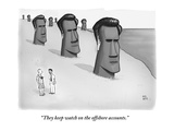 """They keep watch on the offshore accounts."" - New Yorker Cartoon Premium Giclee Print by Paul Noth"
