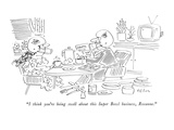 """I think you're being swell about this Super Bowl business, Roxanne."" - New Yorker Cartoon Premium Giclee Print by Dean Vietor"