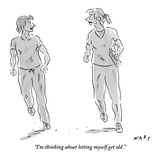 """I'm thinking about letting myself get old."" - New Yorker Cartoon Premium Giclee Print by Kim Warp"