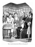 """Never mind the damned cake! Where are the reporters"" - New Yorker Cartoon Premium Giclee Print by Peter Arno"