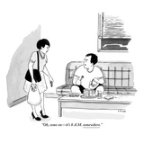 """""""Oh, come on—it's 8 a.m. somewhere.""""  - New Yorker Cartoon Premium Giclee Print by Emily Flake"""