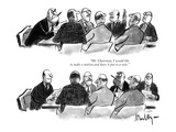 """Mr. Chairman, I would like to make a motion and have it put to a vote."" - New Yorker Cartoon Giclee Print by James Mulligan"