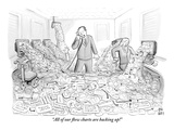 """All our flow charts are backing up!"" - New Yorker Cartoon Premium Giclee Print by Paul Noth"