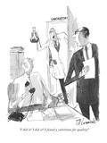 """I did it! I did it! I found a substitute for quality!"" - New Yorker Cartoon Premium Giclee Print by Joseph Mirachi"
