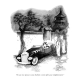 """It was nice of you to come back for a visit after your enlightenment."" - New Yorker Cartoon Premium Giclee Print by Richard Oldden"