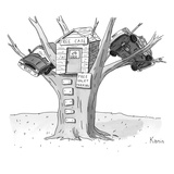 Title: Tree Cafe Title: Free Valet Parking - New Yorker Cartoon Premium Giclee Print by Zachary Kanin