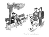 """We had that in school last week."" - New Yorker Cartoon Premium Giclee Print by Barney Tobey"