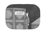 Man in a church standing in front of a confessional reads a sign: 'IF THE … - Cartoon Regular Giclee Print by J.C. Duffy