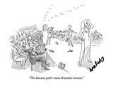 """The banana peels create dramatic tension."" - New Yorker Cartoon Premium Giclee Print by Liam Walsh"