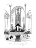 """The trustees feel the Reverend Dr. Clapsattle does not harmonize with the…"" - New Yorker Cartoon Premium Giclee Print by George Booth"