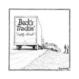 """Safety third!"" - Cartoon Regular Giclee Print par Matthew Diffee"