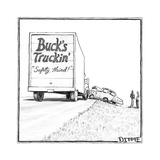 """Safety third!"" - Cartoon Regular Giclee Print by Matthew Diffee"