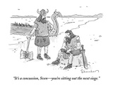 """It's a concussion, Sven—you're sitting out the next siege."" - New Yorker Cartoon Premium Giclee Print by Danny Shanahan"