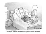 """I think you're using lawnmower repair to avoid intimacy."" - New Yorker Cartoon Premium Giclee Print by David Borchart"