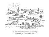 """I don't know about you, but I'd be willing to pitch in for a new contact …"" - New Yorker Cartoon Premium Giclee Print by Mike Twohy"