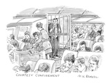 Courtesy Confinement' - New Yorker Cartoon Premium Giclee Print by M.K. Brown