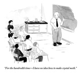 """""""For the hundredth time—I have no idea how to make crystal meth.""""  - New Yorker Cartoon Premium Giclee Print by Emily Flake"""