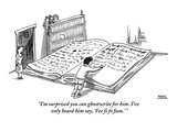 """I'm surprised you can ghostwrite for him. I've only heard him say, 'Fee f…"" - New Yorker Cartoon Premium Giclee Print by Shannon Wheeler"