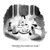 """""""And that's how babies are made."""" - New Yorker Cartoon Premium Giclee Print by Emily Flake"""