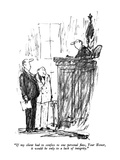 """""""If my client had to confess to one personal flaw, Your Honor, it would be…"""" - New Yorker Cartoon Premium Giclee Print by Robert Weber"""