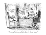 """I'm sorry, but the name 'Parker Posey' is already taken."" - New Yorker Cartoon Premium Giclee Print by Robert Weber"