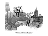 """Worst internship ever."" - New Yorker Cartoon Giclee Print by Corey Pandolph"