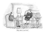 """Hey, that's a cat trick."" - New Yorker Cartoon Premium Giclee Print by Victoria Roberts"