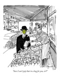 """Sure I can't pop that in a bag for you, sir"" - New Yorker Cartoon Premium Giclee Print by Michael Crawford"