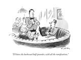 """I'll have the barbecued half-pounder, with all the ramifications."" - New Yorker Cartoon Premium Giclee Print by Mike Twohy"
