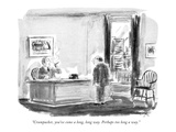 """Crumpacker, you've come a long, long way. Perhaps too long a way."" - New Yorker Cartoon Regular Giclee Print by Everett Opie"