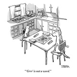 """'Grrr' is not a word."" - New Yorker Cartoon Premium Giclee Print by Shannon Wheeler"