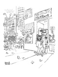 "A couple are coming out of Times Square-area ""Broadway tattoos"" parlor wit… - New Yorker Cartoon Premium Giclee Print by Brian Savage"
