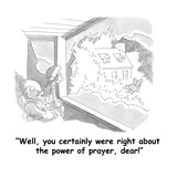 """Well, you certainly were right about the power of prayer, dear!"" - Cartoon Giclee Print by Gahan Wilson"