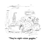 """They're night-vision goggles."" - Cartoon Giclee Print by Barbara Smaller"