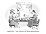 """You don't have a weak chin, dear.  You have a confident overbite."" - New Yorker Cartoon Premium Giclee Print by Mike Twohy"