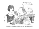 """No, leave it long in the back so I can look like a nincompoop."" - New Yorker Cartoon Premium Giclee Print by M.K. Brown"