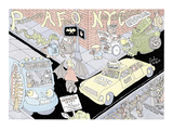 """Presenting a Few of New York Curiosities"" - New Yorker Cartoon Premium Giclee Print by Gahan Wilson"