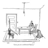 """Leon, you are a millennial Odyssey."" - New Yorker Cartoon Premium Giclee Print by George Booth"