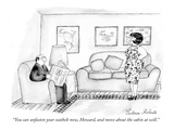 """You can unfasten your seatbelt now, Howard, and move about the cabin at w…"" - New Yorker Cartoon Premium Giclee Print by Victoria Roberts"