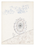 Sketchbook by Saul Steinberg - New Yorker Cartoon Premium Giclee Print by Saul Steinberg