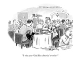"""Is that your 'God Bless America' or mine"" - New Yorker Cartoon Premium Giclee Print by Mike Twohy"