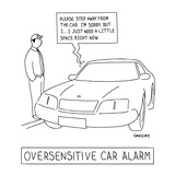 Oversensitive Car Alarm' - New Yorker Cartoon Premium Giclee Print by Alex Gregory