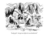 """Lucky girl—she got one before he was hardwired."" - New Yorker Cartoon Premium Giclee Print by Lee Lorenz"