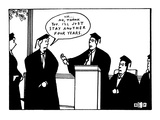 "Student refuses diploma at graduation and says, ""Uh...No, thank you. I'll …"" - New Yorker Cartoon Premium Giclee Print by Bruce Eric Kaplan"