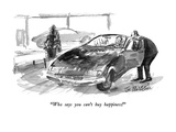 """Who says you can't  buy happiness!"" - New Yorker Cartoon Premium Giclee Print by Joseph Mirachi"