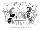 """Grace and polish, all bundled up together in one man"" - New Yorker Cartoon Premium Giclee Print by Victoria Roberts"