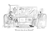 """We never close, do we, Howard"" - New Yorker Cartoon Premium Giclee Print by Victoria Roberts"